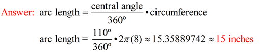 how to find the radian measure of a central angle