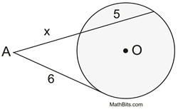 Chords In Circle S Geometry Secant And Tangent Practice