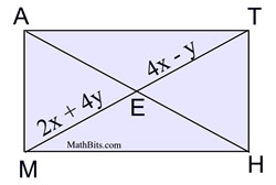 how to find the value of x in a rhombus