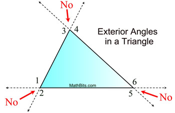 Exterior Angles In A Triangle Mathbitsnotebook Geo Ccss Math