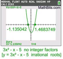 Trinomial Factoring - MathBitsNotebook(A1 - CCSS Math)