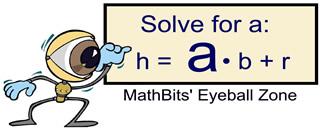 Literal Equations Mathbitsnotebooka1 Ccss Math