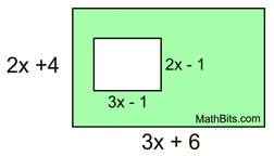 Area Polynomials Worksheet: Visualizing Polynomials Practice   MathBitsNotebook(A1   CCSS Math),