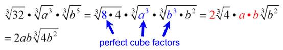 Simplifying Radicals Algebraic Cube Roots Mathbitsnotebook