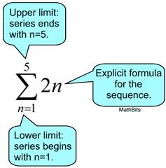 Sigma Notation and Series - MathBitsNotebook(A2 - CCSS Math)
