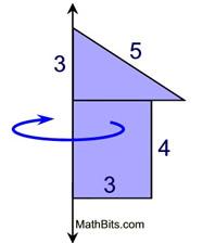 Rotations - Solids of Revolution Practice - MathBitsNotebook(Geo ...
