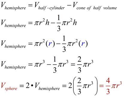 Spheres and Hemispheres - MathBitsNotebook(Geo - CCSS Math)