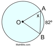 Practice with Central & Inscribed Angles - MathBitsNotebook(Geo