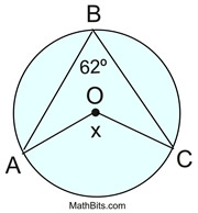 Practice With Central Inscribed Angles Mathbitsnotebook Geo