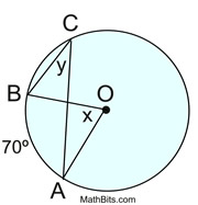 Practice with Central & Inscribed Angles - MathBitsNotebook