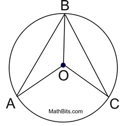 Circle Proof Practice - MathBitsNotebook(Geo - CCSS Math)