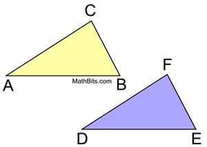 Recognizing Congruent Triangles Practice - MathBitsNotebook ...