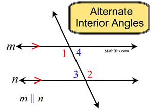 Do same side interior angles in a transversal equal 180 Alternate exterior angles conjecture