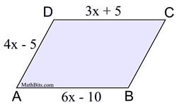 Sample Problems Involving Quadrilaterals - MathBitsNotebook