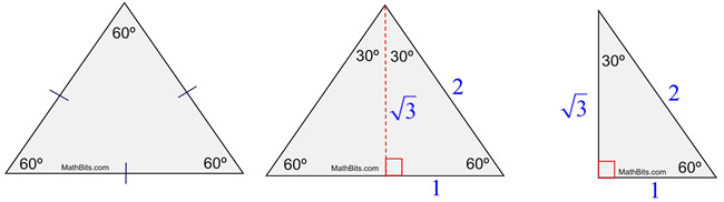 Special Right Triangle 306090 MathBitsNotebookGeo CCSS Math – 30 60 90 Triangles Worksheet