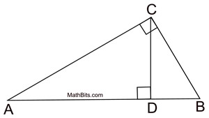 mean proportionals in right triangles notebook geo ccss math