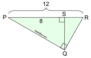 Geometric Means in Right Triangles Practice ...