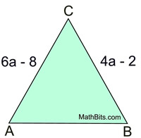 Isosceles Triangles Practice - MathBitsNotebook(Geo - CCSS Math)