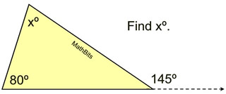 Exterior angles in a triangle mathbitsnotebook geo ccss math for Geometry exterior angle theorem