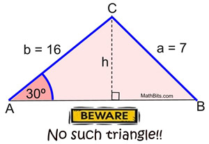 Law Of Sines Ambiguous Case Mathbitsnotebook Geo Ccss Math