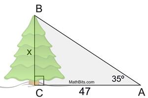 MEDIAN Don Steward mathematics teaching: trigonometry  |Trigonometry Word Problems