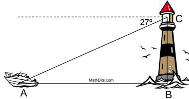 angle of elevation and depression worksheet - Termolak