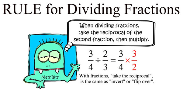how to add and divide fractions